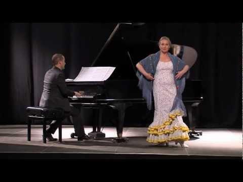 Concierto de piano y castañuuelas de Teresa Laiz, repertorio español