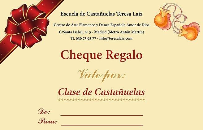 Cheque Regalo Clase Castañuelas